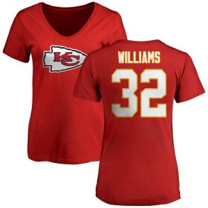 James Williams Kansas City Chiefs Women's Red Any Name & Number Logo Slim Fit T-Shirt -