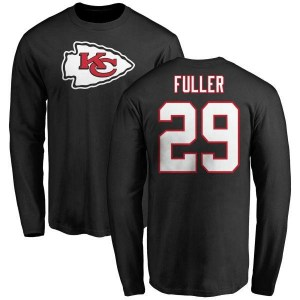 Kendall Fuller Kansas City Chiefs Youth Black Name & Number Logo Long Sleeve T-Shirt -
