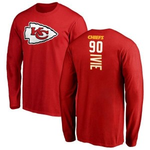 Joey Ivie Kansas City Chiefs Youth Red Backer Long Sleeve T-Shirt -