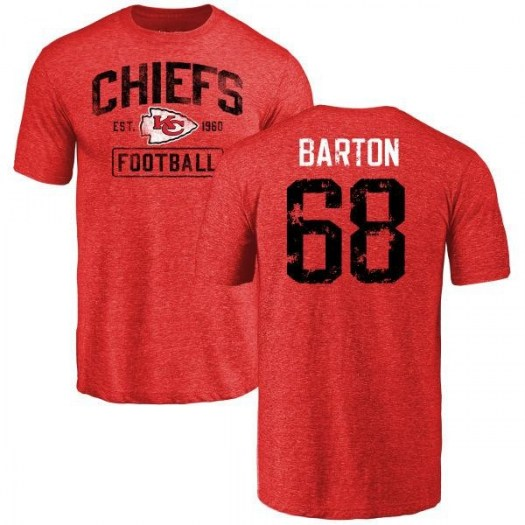 Jackson Barton Kansas City Chiefs Youth Red Distressed Name & Number Tri-Blend T-Shirt