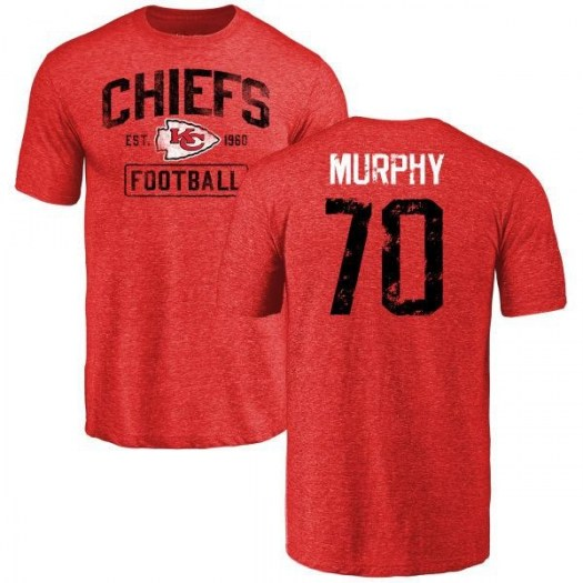 Pace Murphy Kansas City Chiefs Men's Red Distressed Name & Number Tri-Blend T-Shirt