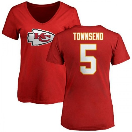 Tommy Townsend Kansas City Chiefs Women's Red Name & Number Logo Slim Fit T-Shirt -