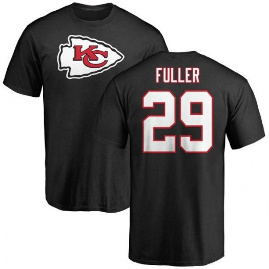 Kendall Fuller Kansas City Chiefs Youth Black Name & Number Logo T-Shirt -
