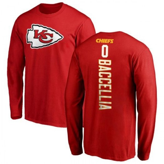 Andre Baccellia Kansas City Chiefs Youth Red Backer Long Sleeve T-Shirt -