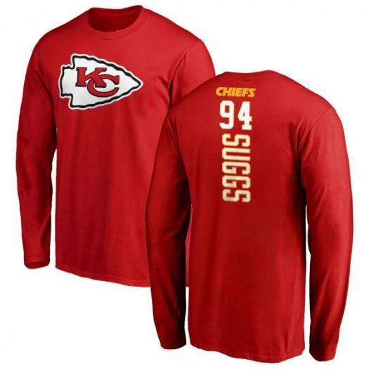 Terrell Suggs Kansas City Chiefs Youth Red Backer Long Sleeve T-Shirt -
